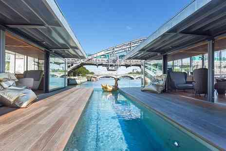 OFF Paris Seine - Four Star Floating Design Hotel on the Citys Largest Docked Boat for two - Save 80%