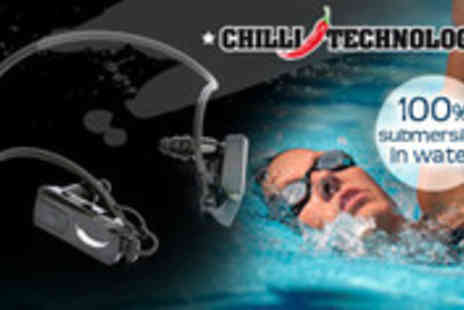 Chilli Technology - Waterproof headphones with built in MP3 player - Save 52%
