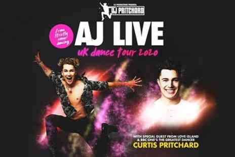 ATG Tickets - AJ Pritchards AJ Live UK Dance Tour from 11th To 21st March - Save 30%