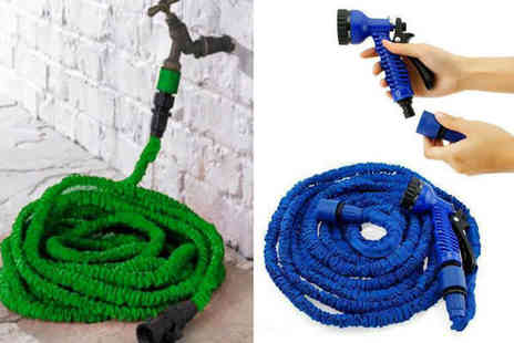 Gift Gadget - Expandable garden hose and spray gun Choose from two colours - Save 70%