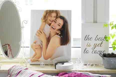 Colorland - One or Two Up to 20 Inch x 16 Inch Personalised Photo Canvases - Save 50%