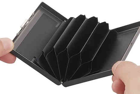 EClife Style - 1 or 2 Anti Scan Stainless Steel RFID Card Holders Choose from 7 Colours - Save 80%