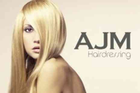 AJM Hairdressing - Half Head Highlights or Full Head Colour With Cut, Finish and Cera Repair Treatment - Save 62%