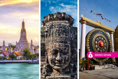 Great Pacific Travels - Four Star Eight nights Bangkok, Siem Reap and Phnom Penh multi centre break with breakfast and flights - Save 51%