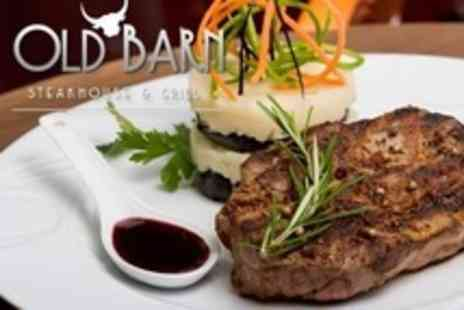 Old Barn Steakhouse - Steak or Cod Meal For Two With Wine - Save 53%