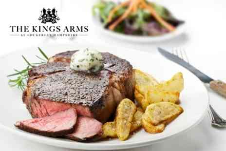 Kings Arms - Three Course Meal For Two With Wine - Save 63%
