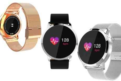 Groupon Goods Global GmbH - Sports Watch with Bluetooth and Heart Rate Monitor - Save 69%