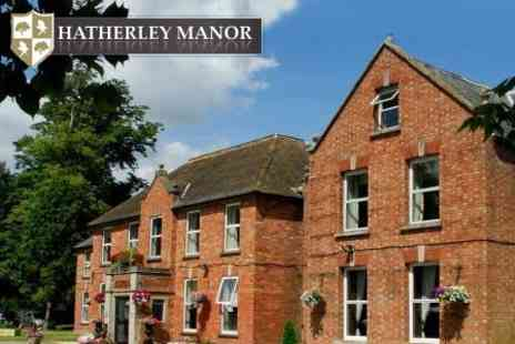 Hatherley Manor Hotel - One Night Getaway For Two with Three Course Meal, Full English Breakfast, and Welcome Bottle of Prosecco - Save 59%