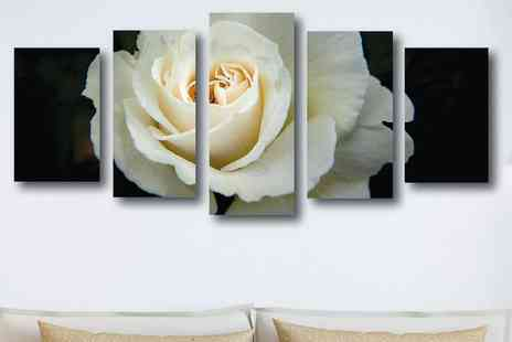 DecoMatters - Five panel split canvas art Choose from 13 designs - Save 80%
