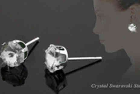 Jewellery Hall - Elegant and classy Swarovski Crystal Studs available in 7 gorgeous colours - Save 67%