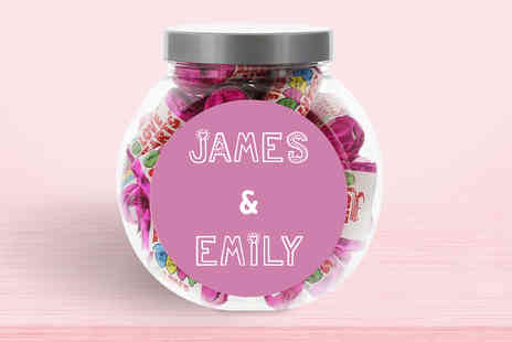 Deco Matters - One personalised Love Heart jar choose your option - Save 59%