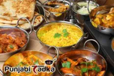 Punjabi Tadka - An Indian meal for 2 people including mains & rice or naan each - Save 56%