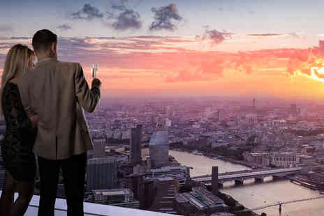 The View from The Shard - Two tickets to the Valentines Day Evening event with a glass of Moet & Chandon Brut Imperial Champagne each, a red rose, live music and a souvenir digital photo - Save 0%