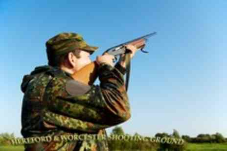 Hereford & Worcester Shooting - Private clay pigeon shooting lesson for 2 - Save 60%
