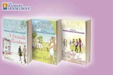 Random House - 3 Sophie Kinsella books A Desirable Residence, Cocktails for 3 & The Tennis Party - Save 62%