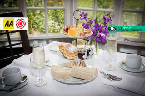 The Mere Court Hotel - Traditional afternoon tea for two people glass of Prosecco each - Save 35%