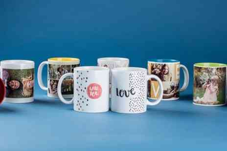 Colorland - Up to Three Personalised Coloured or Magic Mugs - Save 64%