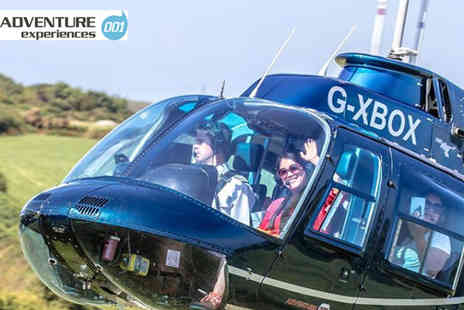 Adventure 001 - Blue skies helicopter tour for one person with a glass of bubbly - Save 54%