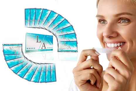 Igojii - 14 packs of LA teeth whitening strips - Save 66%