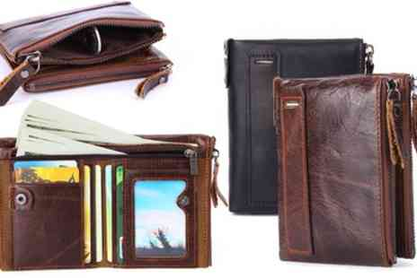 Groupon Goods Global GmbH - One or Two RFID Blocking Leather Wallets - Save 82%