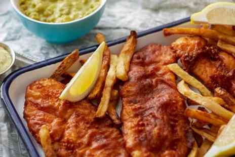 Hut Grills - Fish and Chips with Soft Drink for One or two - Save 33%