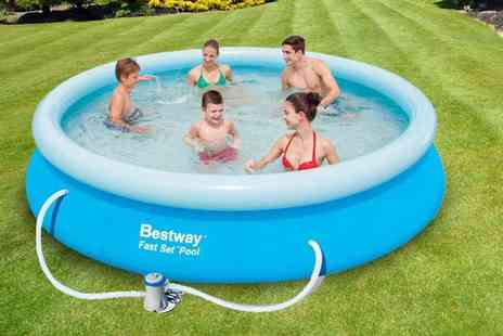Games & Fitness - 8ft Bestway above ground swimming pool set - Save 60%