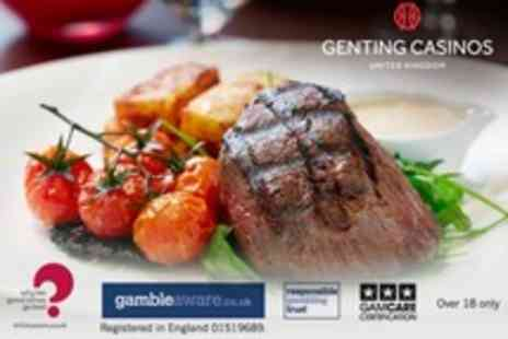 Genting Casino - Steak, Seafood and Champagne for Two - Save 34%