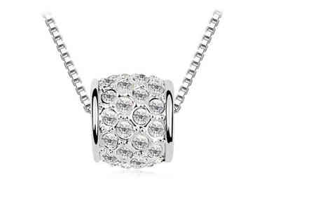 Your Ideal Gift - Rhodium plated pendant made with crystals from Swarovski - Save 88%