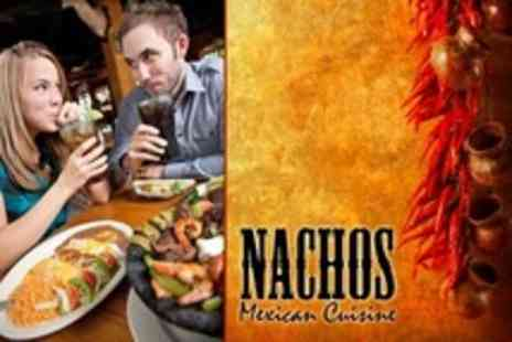 Nachos - Two Course Mexican Meal For Two With Side and Soft Drinks - Save 53%