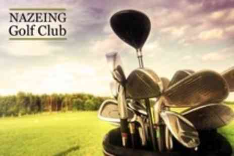 Nazeing Golf Club - 18 Hole Golf Plus 50 Range Balls and Breakfast Roll For Two - Save 57%