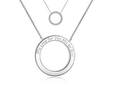 Your Ideal Gift - Ring necklace made with crystals from Swarovski - Save 85%