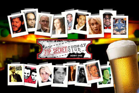 Top Secret Comedy Club - Entry to the Top Secret Comedy Club plus a drink - Save 56%