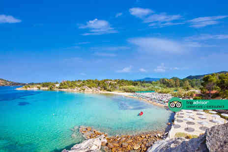 Super Escapes Travel - Three nights half board Halkidiki, Greece holiday with return flights - Save 38%