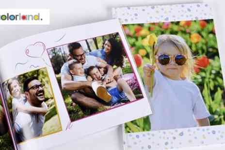 Colorland - One, Two or Three 100 or 140 Page Personalised A4 Photobooks - Save 79%