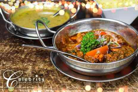 Celebrity Restaurant - Two course a la carte Indian dining for two - Save 59%