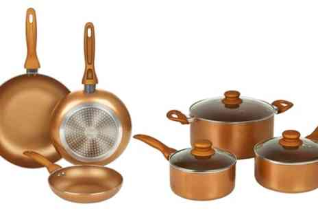 Groupon Goods Global GmbH - Non Stick Copper Frying Pans or Pots - Save 67%