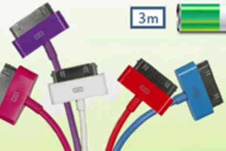 EDDProducts - These colourful 3 metre iPad and iPhone USB cables - Save 75%