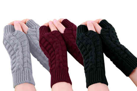 Boni Caro - Pair of fingerless gloves - Save 80%