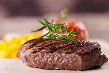 Ingram Wynd - 8oz fillet steak dining including sides for two people with a small glass of house wine or a bottle of beer each - Save 0%