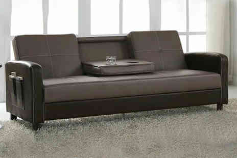 UK Furniture Zone - Faux leather sofa bed - Save 66%