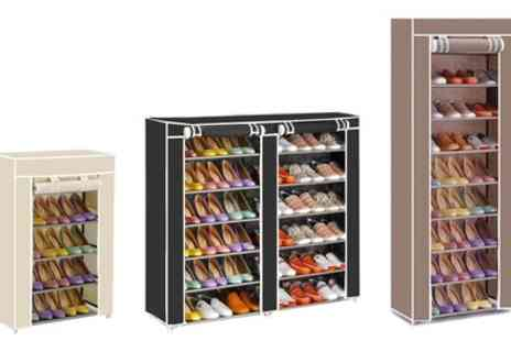 Groupon Goods Global GmbH - Canvas Shoe Storage Rack in Choice of Colours and Sizes - Save 10%