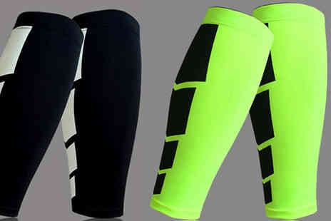 J Star Direct - Pair of Sports Calf Compression Sleeves - Save 75%