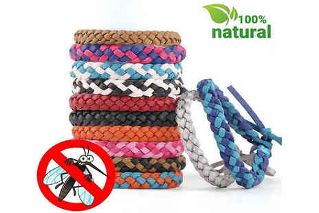 Wish Whoosh Offers - Pack of 10 Stylish Mosquito Repellent Bracelets - Save 77%