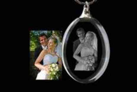 Laserpics - Personalised crystal pendant on a sentimental necklace with a difference - Save 58%