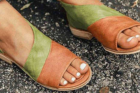 Wish Whoosh Offers - Peep Toe Ankle Sandals choose from 7 Colours and 5 Sizes - Save 60%