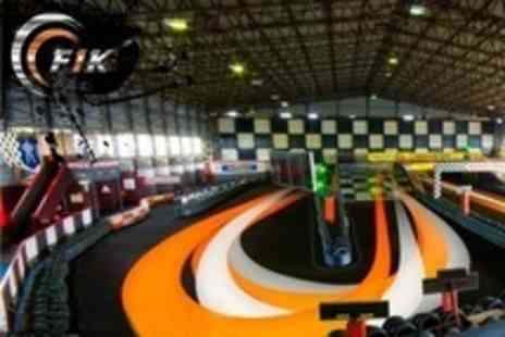 F1K Indoor Karting - 50 Lap Karting Race - Save 45%