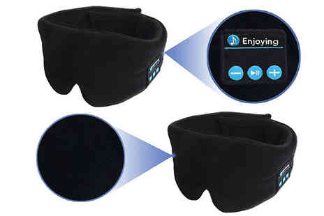 Wish Whoosh Offers - Wireless Bluetooth Eye Mask with Built in Headset - Save 80%