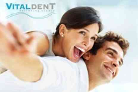 Vitaldent Wellbeing Studio - Advanced Power Laser Teeth Whitening With Dental Examination and Clean - Save 78%