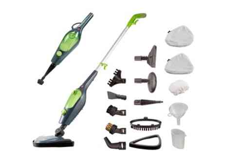 Groupon Goods Global GmbH - Easy Steam X10, 10 in 1 1500W Multi Functional Steam Mop with 11 Piece Accessory Kit - Save 0%