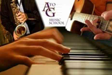 A to G Music School Limited - Private Music Lessons for One Hour - Save 74%